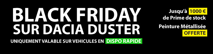 Black Friday Dacia Duster